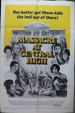 Massacre at central high movie poster,1976,One sheet.