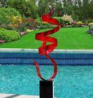 Metal Sculpture Large Abstract Red Yard Art Decor by Jon Allen