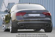 Rieger CUP Diffusor SCHWARZ für Audi A5 B8 S5 S-Line Facelift Heckansatz BLENDE