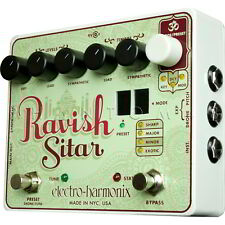 Electro-Harmonix Ravish Sitar Synth/Sympathetic Drone EHX Guitar Effects Pedal