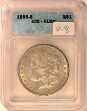 1885-S VAM-8 MPD ICG AU50 Morgan Dollar [inv 847]