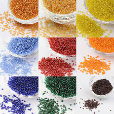 50g 11/0 Silver Lined Round Transparent Glass Seed Beads for Garment Accessories