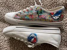 Converse Low Tops Size 12 Custom Grateful Dead Art Shoes Special Design 100%FB