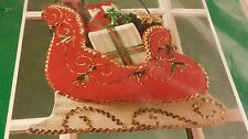 Bernat Fabricraft Fabric Felt Christmas Red Sleigh Wall Display 14x15 Eve Andre
