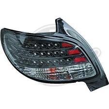 Coppia fari fanali posteriori TUNING PEUGEOT 206 98-05 3/5 porte LED NERI