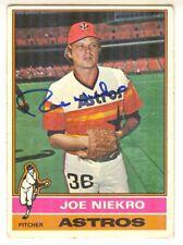 #1-14 Joe Niekro Hand Signed 1976 Topps #273 Baseball Card - Houston Astros