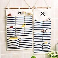 6/8 Pockets Wall Hanging Pouch Bag Organiser Rack Hanger Storage Tidy Organizer