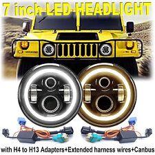 H6017/H6024 CREE LED Headlight For Hummer H1 H2 7inch Lights H4 H13 Hi/Lo Beam