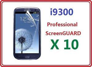 Samsung i9300 Galaxy S3 III Screen Protector Film Bulk Wholesale Lot X 10
