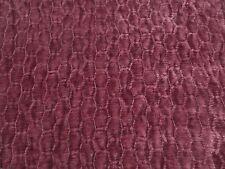 Zoffany Curtain Fabric ASHBY 0.5m Garnet - Chenille Weave Design 50cm