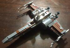 Custom Lego Star Wars Brown & Dark Gray X-Wing Fighter with Pilot