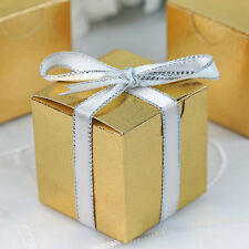 """100 pcs Gold FAVOR BOXES 2""""x2"""" Wedding Party Home Decorations GIFT Supply SALE"""