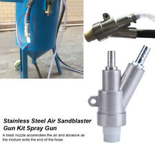 Stainless Steel Air Sandblaster Gun Spray Gun w/ Boron Carbide Blast Nozzle