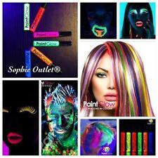 UV Glow Neon Colour Hair Streak & Mascara - Temporary Colour Face Hair Eye Paint