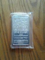 10 oz johnson matthey silver bar