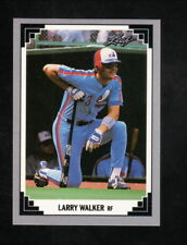 Larry Walker--Montreal Expos--1991 Leaf Basebal Card