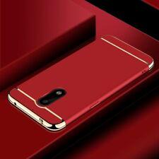 Handy Hülle Schutz Case für Nokia 6 Bumper 3 in 1 Cover Chrom Etui Schale Rot