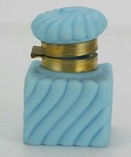Mt. Washington Satin Powder Blue Glass Inkwell Pot Jar