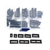 66Pcs//Box DIP IC Sockets Solder Type Socket Kit 6//8//14//16//18//20//24//28 Pin EH Cjj