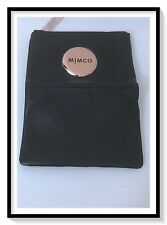 Mimco Leather MIM SMALL FOLD Wallet Clutch Purse BNWT RRP$149 Black Rosegold