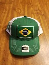 NWT Men FIFA World Cup Soccer BRAZIL National Team HAT Adjustable green mesh