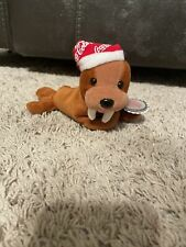 Coca Cola Walrus In Scarf Plush Toy 1997 with A Coke Bottle
