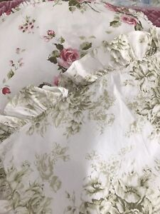 Rachel Ashwell Shabby Chic Couture Vintage  *Brown* Label, Serenity Green Sham!