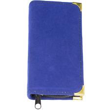 Nagelpflege-Etui für bis zu 6 Instrumente mit blauem Samtbezug - leer