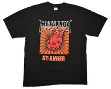 Metallica St. Anger Tour T-Shirt 2004 Size Large Pushead Fist Logo Black Vintage