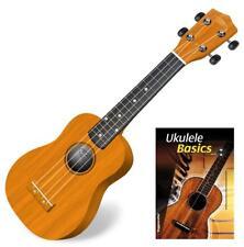 Ukulele Guitare Hawaii Uke 4 Corde Nylon Mensur Soprano Corps Bois Dur Naturelle