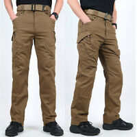Men Casual Tactical Military Combat Wrestle Trousers Hiking Hunting Cargo Pants