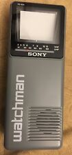 Vintage Sony Watchman Portable Television Tv Model Fd-10A B&W Handheld Mini