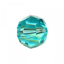 Aquamarine Crystal Bead 10mm Small Ball Center Hole Prism Suncatcher Pack of 100