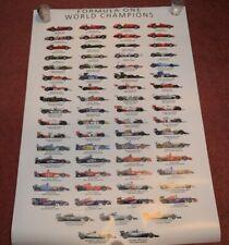 Formula 1 F1 World Champions History Poster 1950-2018