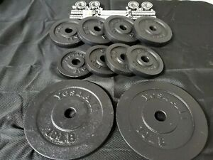 Dumbbell Handles Pair & 52lbs Weight Plates-New Excellent Quality Bundle Barbell