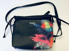 Desigual Holi Festival Watercolor Messenger Shoulder Bag Purse Paint Splatter