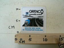STICKER,DECAL GRENCO THERMO KING MIJLEN VER VOOR IN KEOLING TRUCK