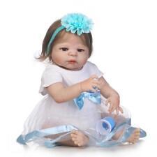 """Fast Shipping 23"""" Reborn Baby Doll + Fiber Hair Girl Dolls Best Gift for Kids"""