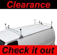 Chevy Express 1996-2018 Van 2 bar Ladder Roof Racks Steel White Rack