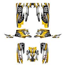 Yamaha Banshee 350 graphics custom full coverage sticker kit #4444 Yellow