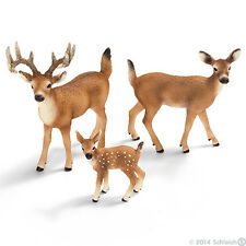 *NEW* SCHLEICH 14709 14710 14711 White Tailed Deer Group - Set of 3