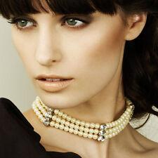 Collier RAS DE COU perle & cristaux SWAROVSKI AVON NEUF