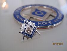 Masonic Master Mason Cut out Car Auto Emblem and pin....