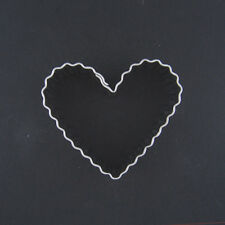 "FLUTED HEART 2.5"" METAL COOKIE CUTTER STENCIL PARTY FAVOR FONDANT LOVE MARRIAGE"