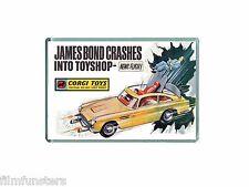 TV21 COMIC JAMES BOND 007 ASTON MARTIN CORGI TOYS ADVERT - JUMBO FRIDGE MAGNET