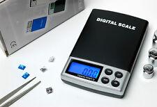 Gems & Jewelry Pocket Digital Carat Scale 0.1/500g , 0.5/2500ct  (Black,New)