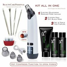 Electric Blackhead Remover Vacuum with HEAT Deep Pore Dermabrasion Face Cleaner