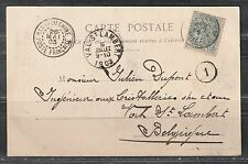 1903 postcard, French PO in China stamp 10c, from Hankow 漢口 to Val St. Lambert