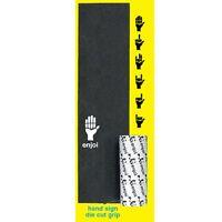 "Enjoi Skateboards Grip Hand Signs Die Cut Black Griptape Full Deck Tape 9x33"""