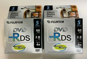 10 Fujifilm DVD-R DS Camcorder 2.8GB 60 Minutes Discs, 25302910, 2-Day Ship